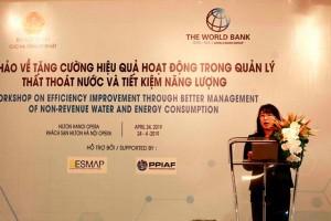 Hội thảo về tăng cường hiệu quả hoạt động trong quản lý thất thoát nước và tiết kiệm năng lượng