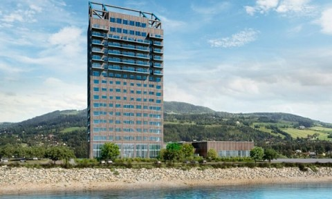 Tòa nhà gỗ cao nhất thế giới vừa được hoàn thành ở Na Uy