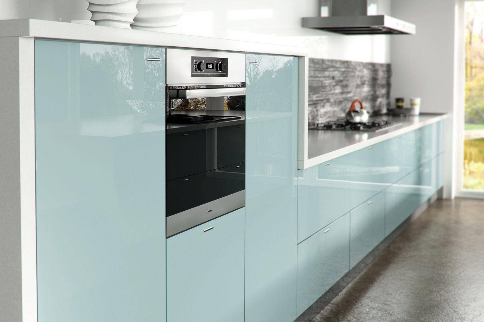 Tủ bếp acrylic sáng đẹp cần được bảo vệ trước độ ẩm và dầu mỡ
