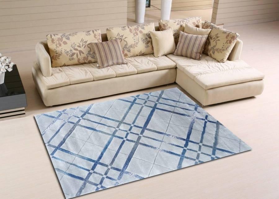 Loại thảm hình vuông hoặc hình chữ nhật phù hợp với cách đặt theo góc vuông này