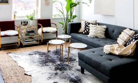 15 ví dụ giúp bạn chọn và đặt thảm trang trí cho phòng khách thêm sang trọng