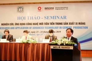 """Hội thảo """"Nghiên cứu, ứng dụng công nghệ mới tiên tiến trong sản xuất xi măng"""""""