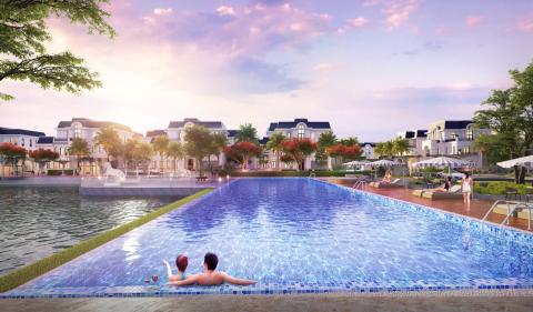 Tiện ích như khu nghỉ dưỡng tại dự án Crown Villas Thái Nguyên