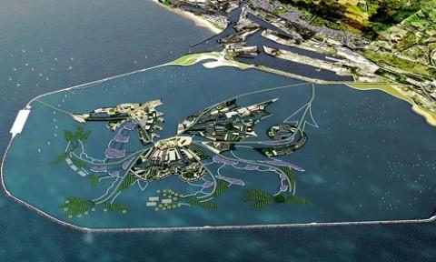 Dự án xây đảo rồng chứa 10.000 ngôi nhà nổi trên biển