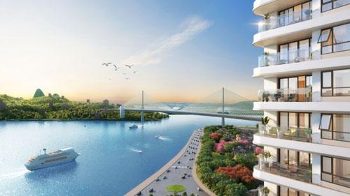 Ví trí và hướng nhìn ra biển Hạ Long từ căn hộ dự án