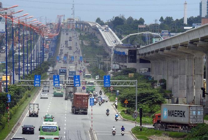 Dự án đường sắt đô thị số 1 TPHCM, tuyến Bến Thành- Suối Tiên được điều chỉnh tăng mức tổng đầu tư rất lớn. Ảnh: Huy Thịnh