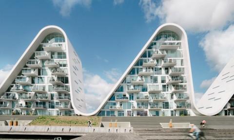 Ngắm tòa tháp chung cư dải sóng lượn