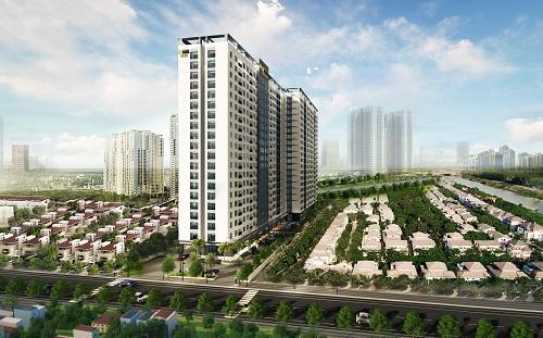 Phối cảnh một dự án căn hộ tại Bình Dương do doanh nghiệp TP HCM đầu tư xây dựng