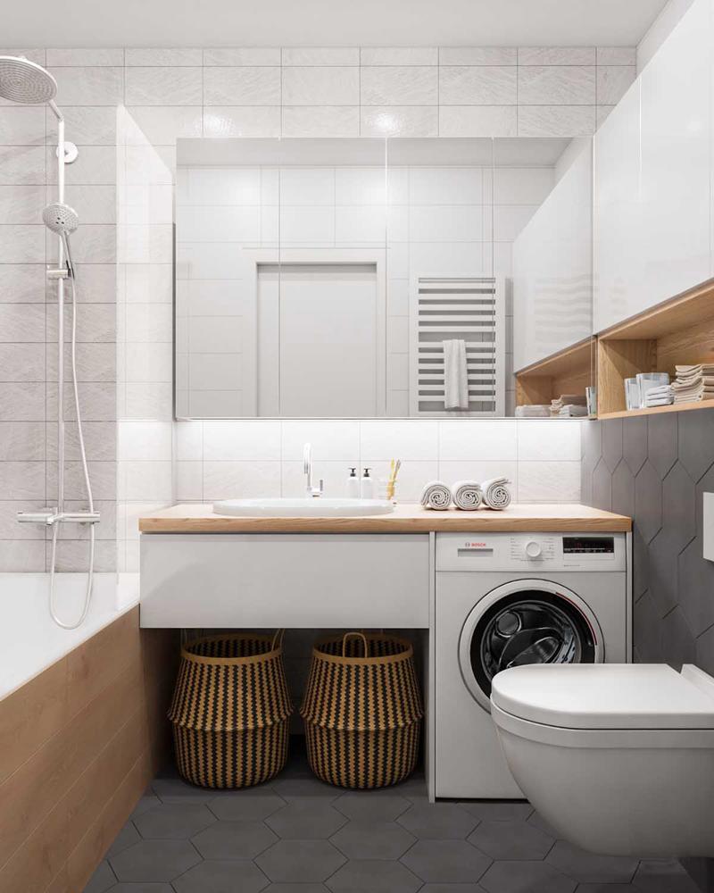 Phòng tắm hiện đại nhưng tiện lợi