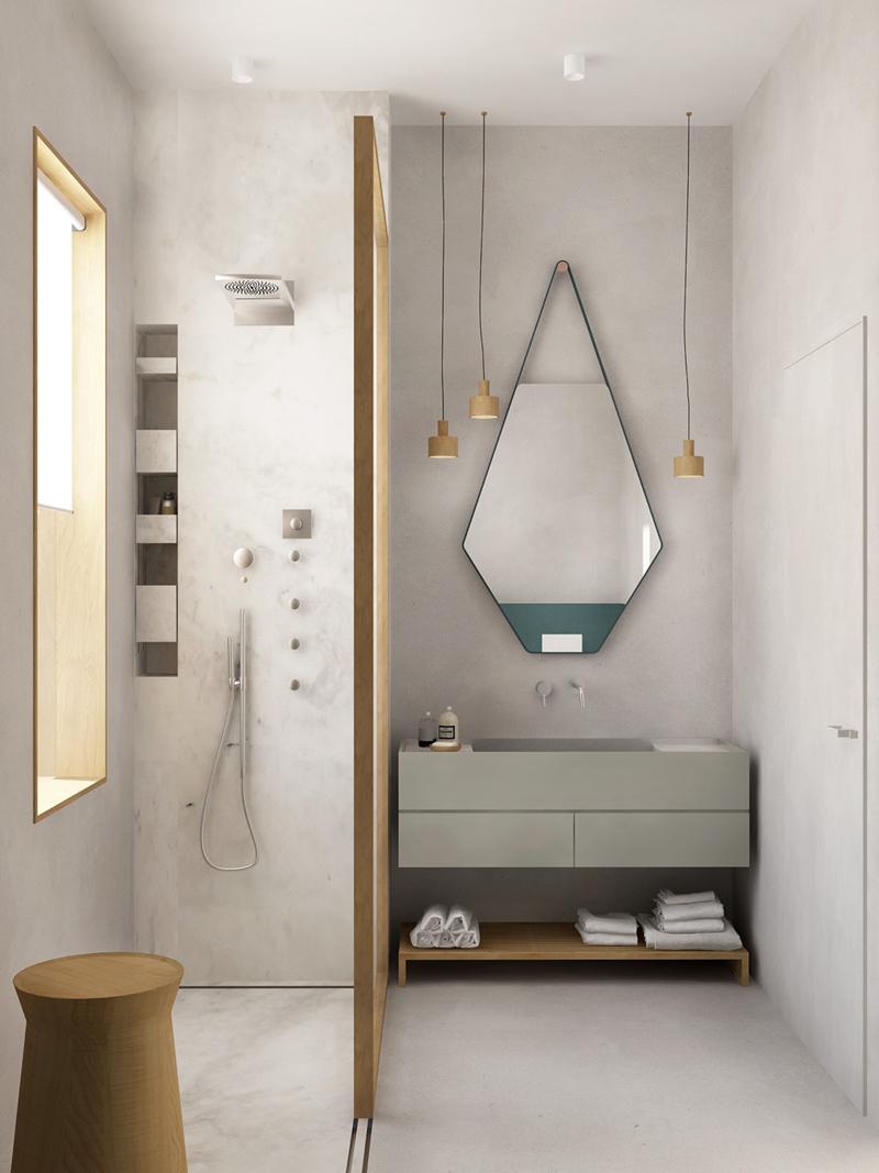 Một chiếc gương đặc biệt cũng đủ sức khiến cho phòng tắm mang đến ấn tượng khó phai