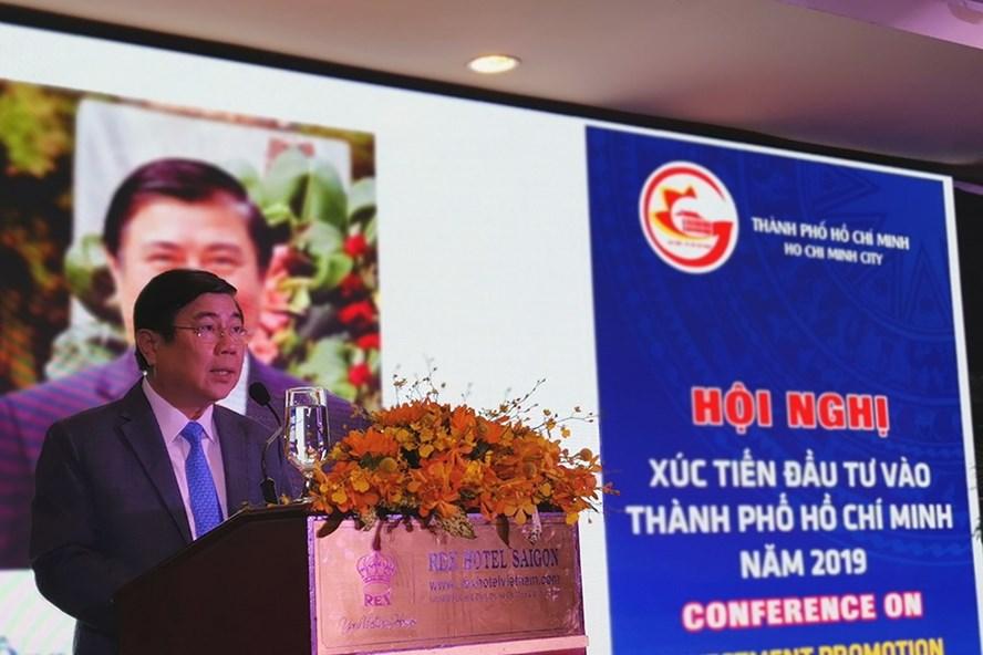 Chủ tịch UBND TPHCM Nguyễn Thành Phong phát biểu khai mạc. Ảnh: PK