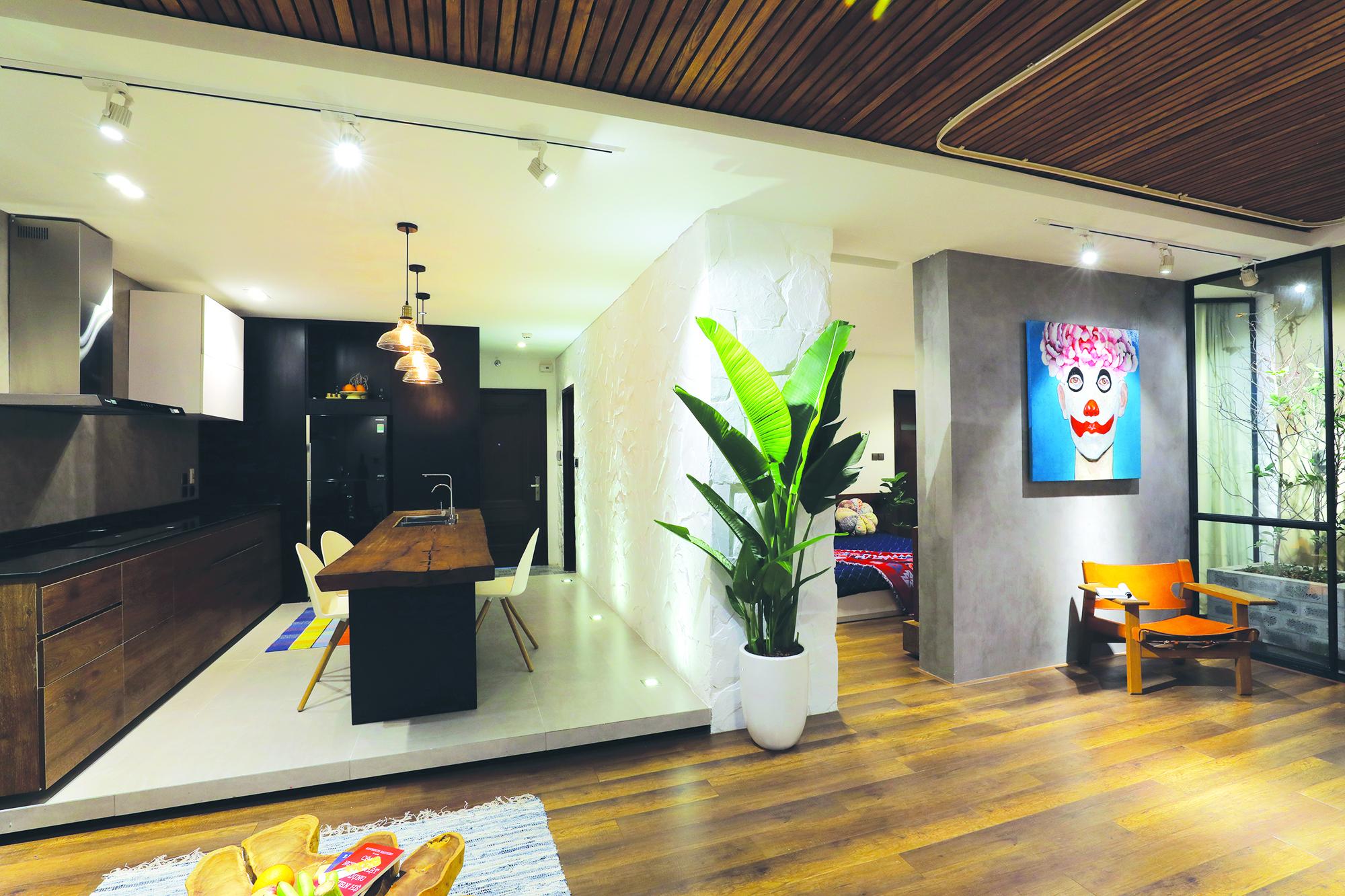 Không gian mở rộng cho các hoạt động chung của căn hộ