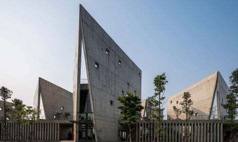Toà nhà Viettel độc đáo và mang đậm dấu ấn thương hiệu khi nhìn từ bên ngoài