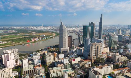 Các toà nhà cao tầng tại TP HCM nhìn từ trên cao. Ảnh: Vũ Lê
