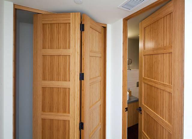 Hệ thống cửa được thiết kế dựa trên chất liệu tre ván ép