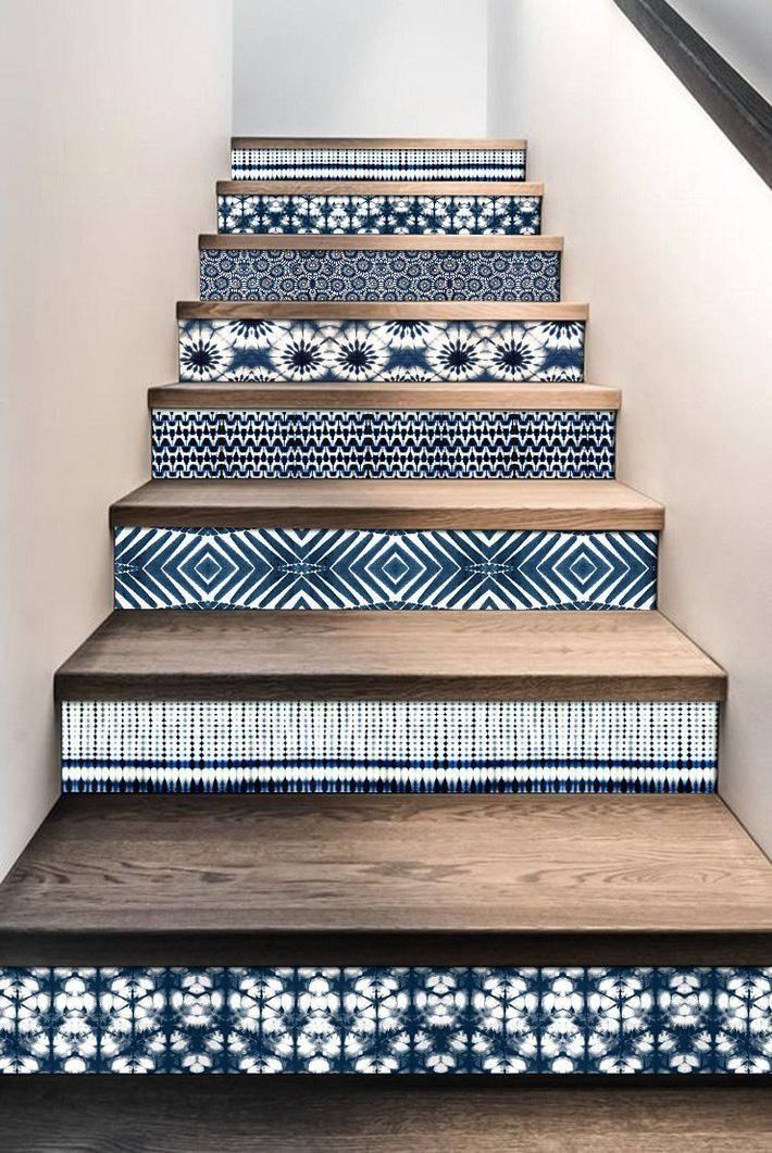 Miếng thừa bạn có thể gắn trang trí 1 số khu vực trong nhà, ví dụ như cầu thang