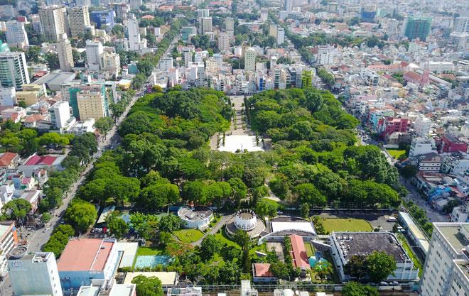 """Công viên Lê Văn Tám là một trong những """"lá phổi"""" ở khu trung tâm thành phố Hồ Chí Minh"""