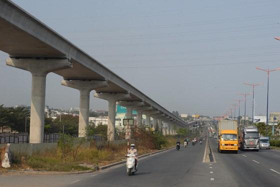 Tuyến Metro Bến Thành - Suối Tiên thi công gần 70% khối lượng công trình. Ảnh: QUỐC HÙNG