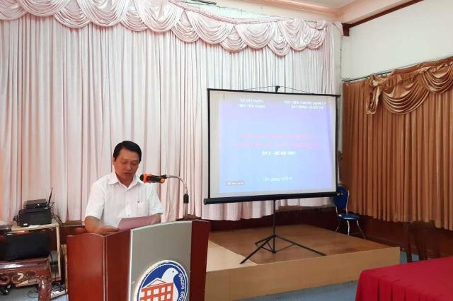 Giám đốc Sở Xây dựng tỉnh Tiền Giang Huỳnh Hữu Quyền phát biểu khai giảng Khóa học