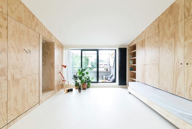 Gian phòng chính đơn giản, sạch sẽ tạo không gian sống thoải mái