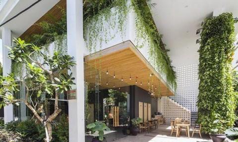 Khách sạn Đà Nẵng mô phỏng vườn treo Babylon thần thoại, nhìn đâu mát đó