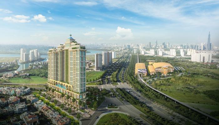 Tọa lạc trên mặt tiền đại lộ Mai Chí Thọ giữa trung tâm Thủ Thiêm, tòa thành Rome by Diamond Lotus được kỳ vọng sẽ là biểu tượng của cả khu Đông Sài Gòn