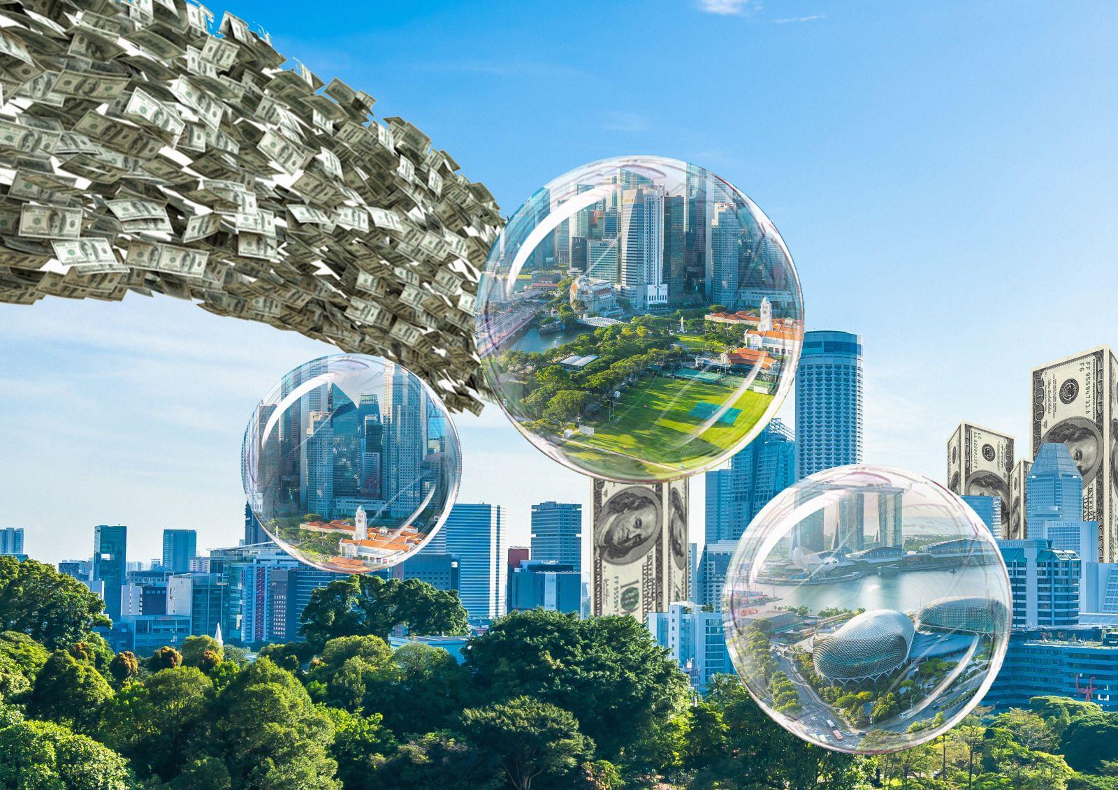 Khi lượng tiền đổ quá nhiều vào bất động sản, sẽ dễ dẫn tới nguy cơ bong bóng