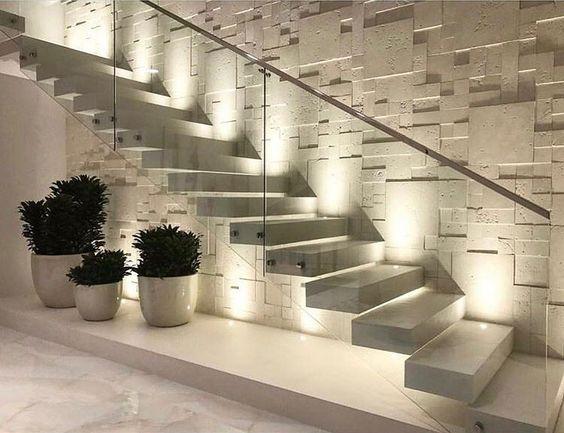 Cầu thang sang trọng từ cầu thang đá granite trắng