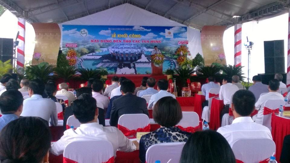 Quang cảnh lễ khởi công xây dựng Đền thờ các vua Hùng tại TP. Cần Thơ. Ảnh: Thành Nhân