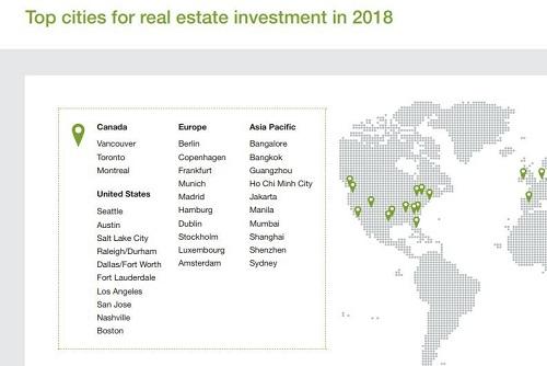 TP HCM đứng thứ tư trên thị trường châu Á Thái Bình Dương về tiềm năng đầu tư bất động sản năm 2018 trên bảng xếp hạng của ULI