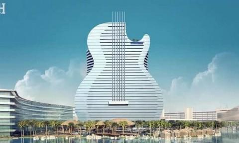 Khách sạn hình đàn guitar đầu tiên thế giới trị giá 1,5 tỷ USD
