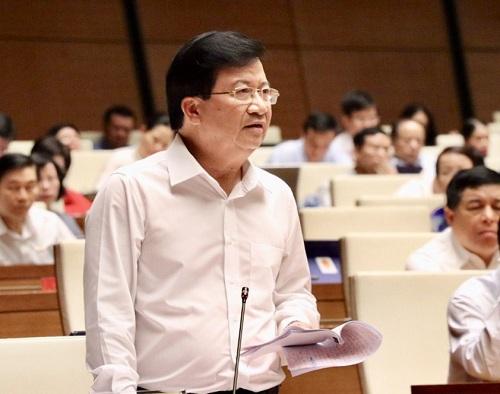 Phó Thủ tướng Trịnh Đình Dũng trả lời chất vấn tại Quốc hội - Ảnh: VGP/Nhật Bắc