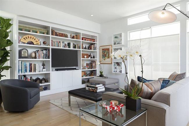 Nhiều gia đình thích dùng cây xanh để trang trí phòng khách để tăng vẻ đẹp sống động.