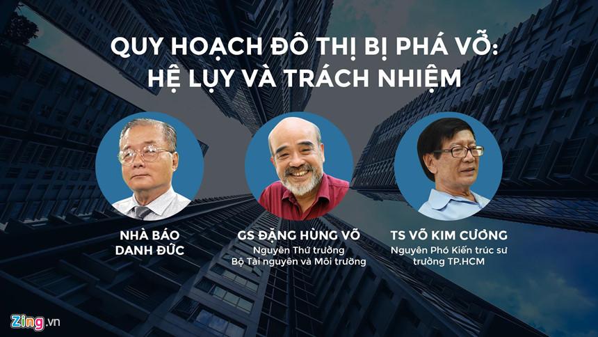 Các khách mời tham gia tọa đàm về quy hoạch đô thị của Zing.vn. Đồ họa: Phượng Nguyễn.