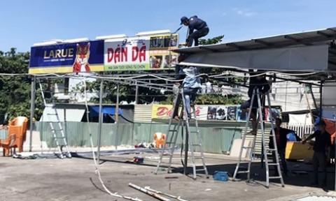 Đà Nẵng: Tháo dỡ hàng loạt nhà hàng, quán tạm xây dựng không phép, trái phép