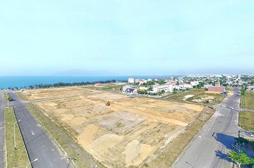 Một dự án đất nền ven biển được mở bán gần đây. Ảnh: CĐT