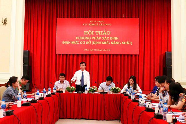 Cục trưởng Cục Kinh tế Xây dựng Phạm Văn Khánh chủ trì buổi Hội thảo