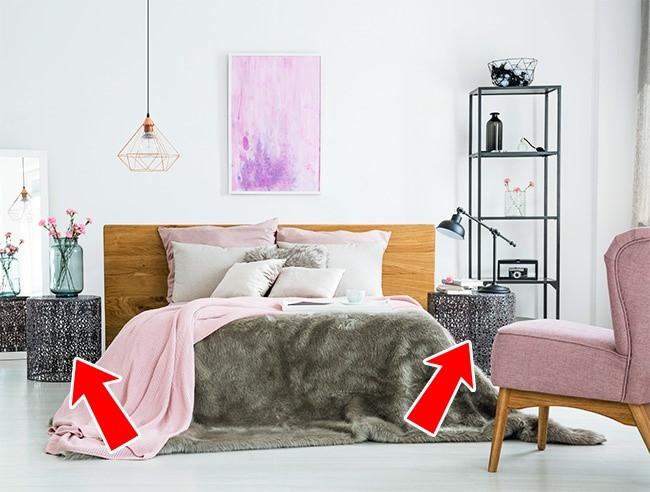 Không nhất thiết phải mua toàn hẳn một set đầy đủ nội thất trong phòng ngủ. Thay vào đó, bạn chỉ cần mua một số đồ cần thiết như bàn, đèn ngủ...