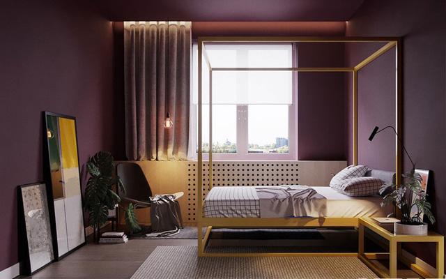 Giường ngủ kiểu cổ điển luôn mang đến sự thú vị cho căn hộ chung cư hiện đại