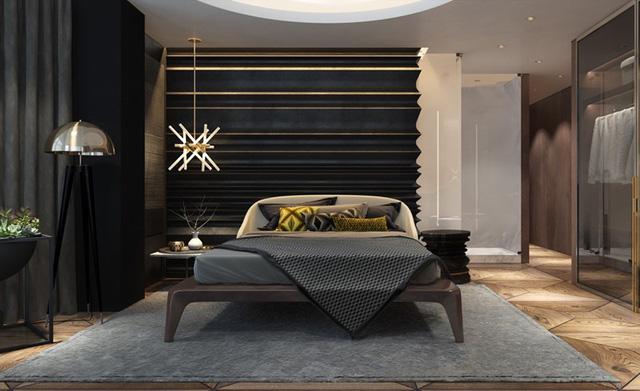 Đèn treo vừa trang trí vừa giúp phòng ngủ không bị tối