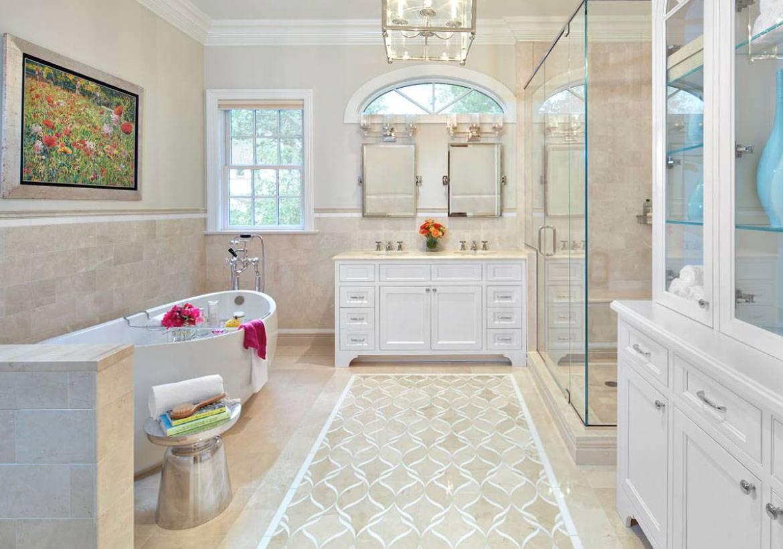 Một chút biến tấu giúp phòng tắm trở nên sang trọng hơn rất nhiều
