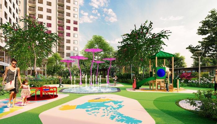 Không gian sống xanh trong lành tại Anland Premium