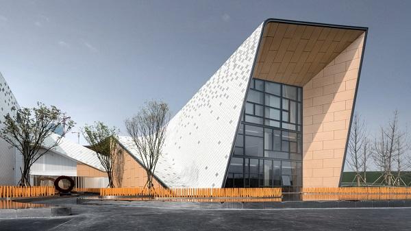 Bằng cách xây dựng, thiết kế trường ở dạng gấp khúc, các không gian đa chức năng được tận dụng triệt để, gần gũi với thiên nhiên hơn.