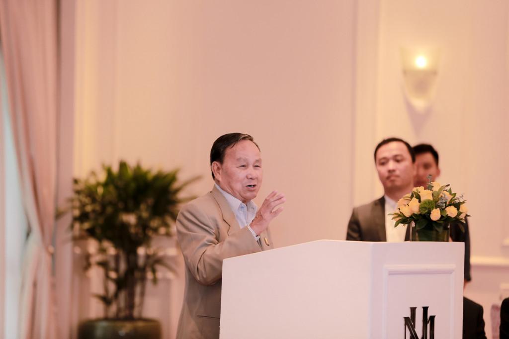 KTS Nguyễn Tấn Vạn - Chủ tịch Hội Kiến trúc sư Việt Nam phát biểu tại buổi lễ