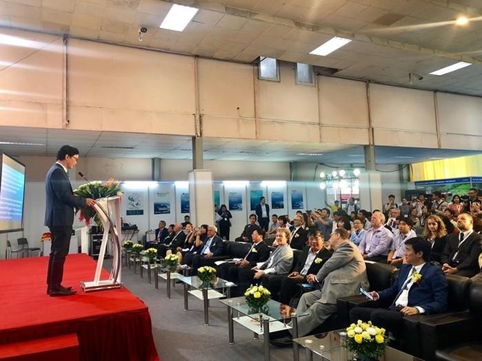 Thứ trưởng Bộ Xây dựng Nguyễn Đình Toàn phát biểu tại Lễ khai mạc Triển lãm