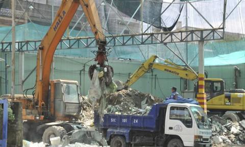 Cấp thiết xử lý rác thải xây dựng