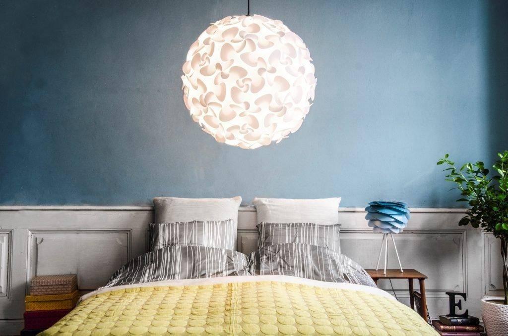 Chụp đèn tròn giúp ánh sáng tập trung hơn trong căn phòng