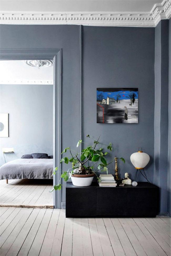 Màu sắc tuyệt cho phòng ngủ và để thư giãn chính là phối hợp của hai gam màu xám và màu xanh