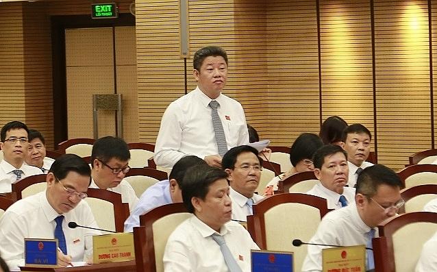 Ông Nguyễn Mạnh Quyền, Giám đốc Sở KH-ĐT tại phiên thảo luận