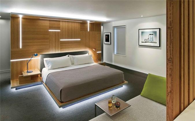 Dù có thiết kế đơn giản thế nào thì bạn chẳng thể nào rời mắt khỏi chiếc giường ngay từ khi nhìn thấy nó